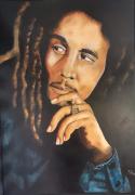 tableau personnages portrait personnage bob marley : Bob Marley
