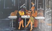 tableau personnages personnages scene de vie : Les parisiennes