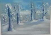 tableau : Les arbres bleus