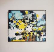 tableau abstrait abstrait acrylique : Printemps