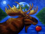 tableau animaux : orignal terre