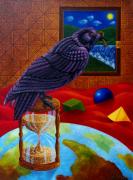 tableau animaux : corbeau avec la clé du paradis