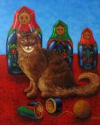 tableau animaux : poupées russes
