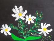 tableau fleurs marguerite fleur jaune : Marguerites en folie