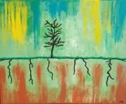 tableau nature morte arbre reve nature morte bleu : Terre et Ciel