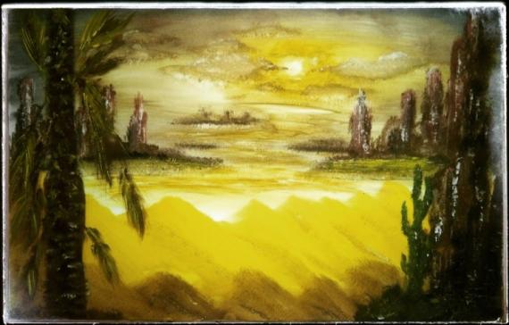 TABLEAU PEINTURE sahara Paysages Acrylique  - Sahara sifara