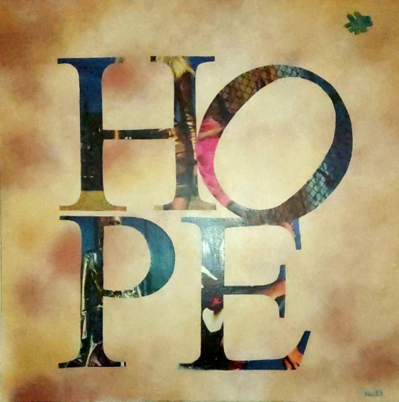 TABLEAU PEINTURE Hope Espoir Nad's  - HOPE