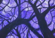tableau autres noir etrange bois mystere : La forêt de l'étrange