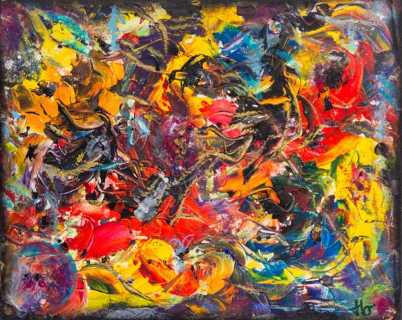 TABLEAU PEINTURE chamane JLO abstrait acrylique Abstrait Acrylique  - SHAMAN