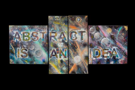 TABLEAU PEINTURE abstrait acrylique création JLO Abstrait Acrylique  - L'ABSTRAIT EST UNE IDEE