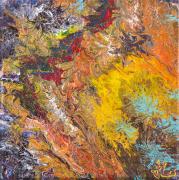 tableau abstrait eruption lave abstrait jlo : ERUPTION
