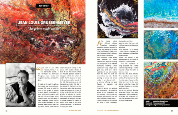 TABLEAU PEINTURE  - ART MAGAZINE INTERNATIONAL
