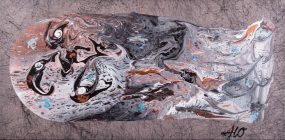 TABLEAU PEINTURE dante abstrait acrylique JLO Abstrait Acrylique  - Inferno Di Dante