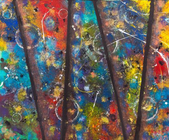 TABLEAU PEINTURE bali trance abstrait acrylique Abstrait Acrylique  - BALI TRANCE