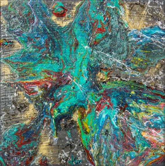 TABLEAU PEINTURE JLO fusion abstrait acrylique Abstrait Acrylique  - FUSION