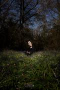 photo scene de genre photographie art personnage mode foret : déjeuner sur l'herbe