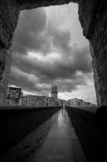 photo architecture noir et blanc paysage photographie photographie art personnage : The viewer 2