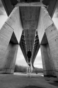 photo architecture noir et blanc paysage photographie photographie art pont : Escape 2