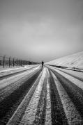 photo architecture noir et blanc paysage photographie photographie art neige : Follow the line 15