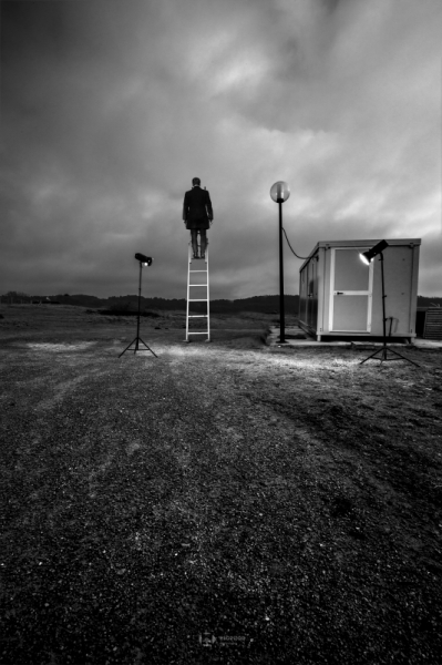 PHOTO noir et blanc paysage photographie photographie art nuit Scène de genre  - Escape 25