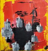 tableau abstrait abstrait art brut art contemporain acrylique : Mother Future