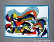 dessin abstrait abstrait geometrique figure couleurs : Arc en ciel