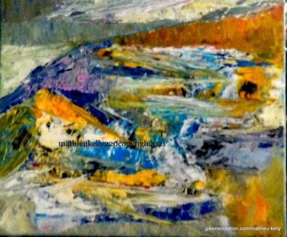 TABLEAU PEINTURE abstrait moderne paysage couleurs Abstrait Acrylique  - Anastase.2