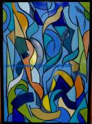 tableau abstrait abstrait moderne couleurs geometrique : Pas de nom