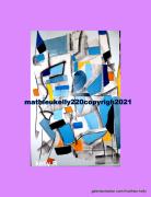 tableau abstrait abstrait contemporain couleurs geometrique : Pas de nom