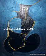 tableau abstrait abstrait moderne couleurs personnage : Pas de nom