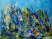 tableau abstrait abstrai fleurs couleurs moderne : Au naturel
