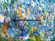 tableau abstrait abstrait vegetal paysage fleurs : Humeur du jardinier
