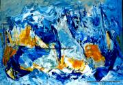 tableau marine abstrait moderne marine paysage : Symphonie aquatique