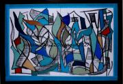 autres abstrait abstrait couleurs moderne geometriques : Pas de nom