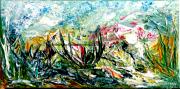 tableau paysages abstrait paysage vegetal fleurs : Promenade fleurie
