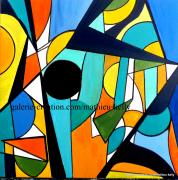 tableau abstrait abstrait geometrique couleur formes : Univers et figures