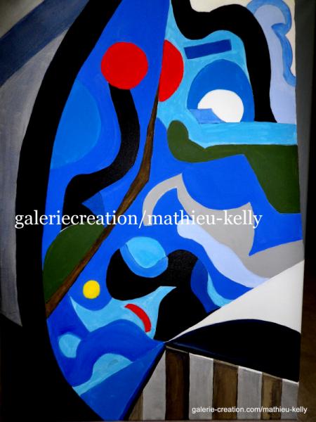 TABLEAU PEINTURE abstrait géométriques couleurs moderne Acrylique  - Kaléidoscope