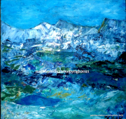 tableau paysages paysage montagne nature abstrait : Paysage du Sud
