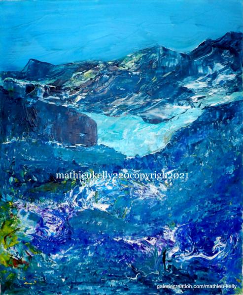 TABLEAU PEINTURE paysage abstrait contemporain montagne Paysages Acrylique  - Ambrôsios.1