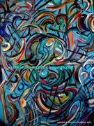 dessin abstrait abstrait moderne mouvement couleurs : Pas de nom