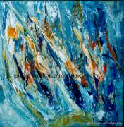 tableau abstrait abstrait orange nature vegetal : Harmonie végétale