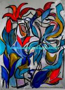 dessin fleurs fleurs couleurs moderne abstrait : Pas de nom