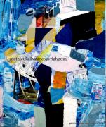 tableau abstrait abstrait moderne formes geometriques couleurs : Appelos
