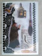 """deco design sorciere magnet decoration sacha89 : Plaque """"halloween"""" PM1"""