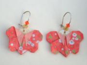 bijoux bijoux boucles doreilles sandrine chasseigne origami : Boucles d'oreilles papillons BO 24