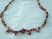 bijoux bijoux collier fantaisie perles de verre : Collier en perles de verre CV 11