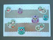 """deco design animaux chouette magnet decoration cuisine : Plaque """"chouettes"""" PM 4"""