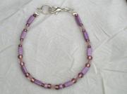 bijoux violet bracelet perles verre : Bracelet en perles de verre BV 30