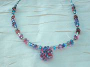 bijoux collier fantaisie perles de verre bijou creation originale : Collier en perles de verre CV 12