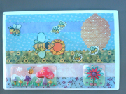 """deco design animaux abeille ruche magnet decoration : Plaque """"abeilles"""" PM 6"""